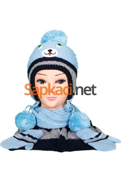 Gülen Kedi Mavi Bebek Takım