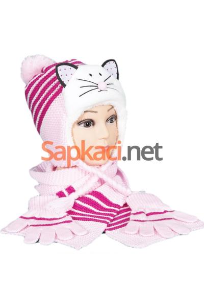 Kedili Pembe Çocuk Takım