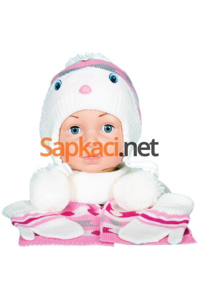 Maskotlu Ekru Bebek Takım