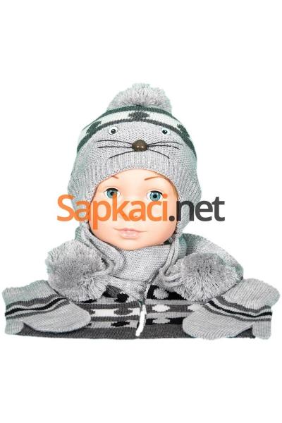 Maskotlu Gri Bebek Takım