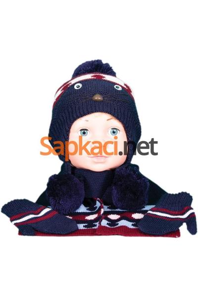Maskotlu Lacivert Bebek Takım