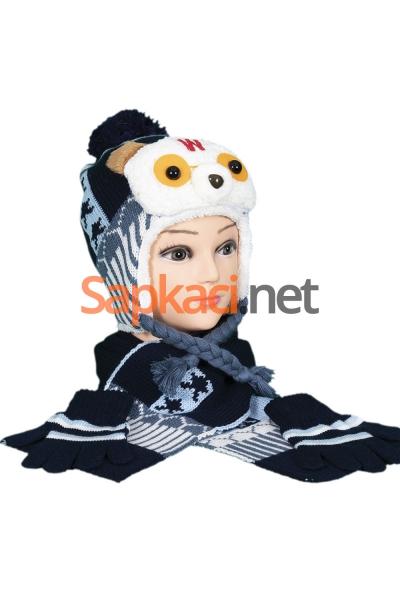 Pandalı Lacivert Çocuk Takım