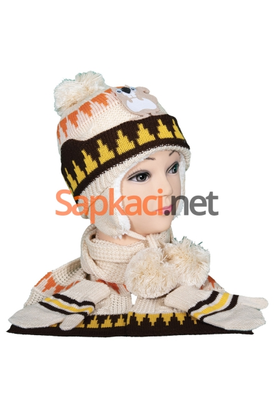 Sincap Desenli Bej Bebek Takım