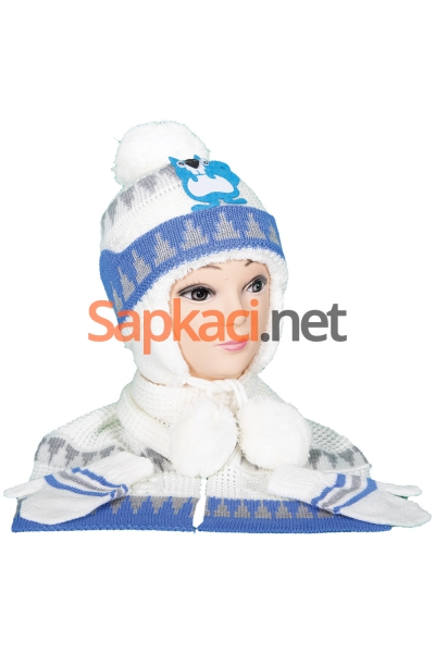 Sincap Desenli Ekru Bebek Takım
