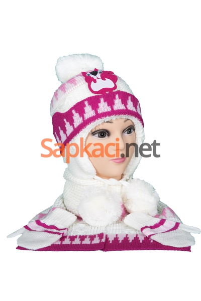 Sincap Desenli Fuşya Bebek Takım