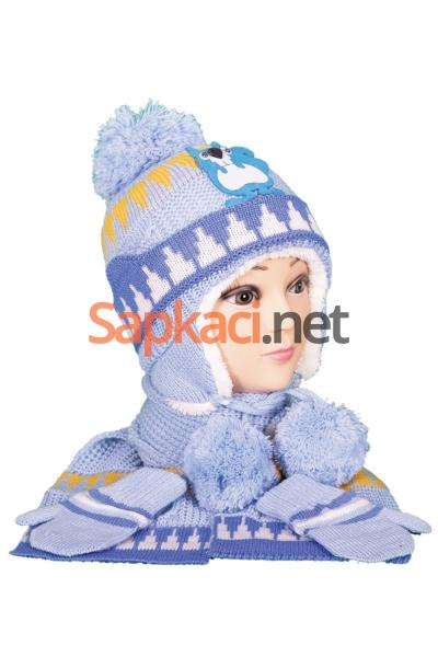 Sincap Desenli Mavi Bebek Takım
