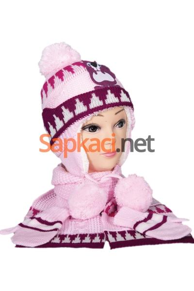 Sincap Desenli Pembe Bebek Takım