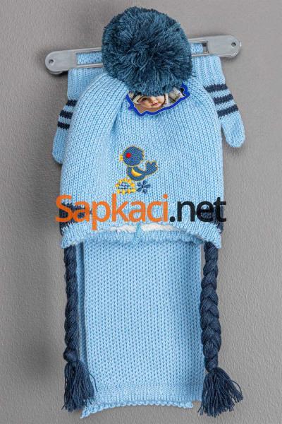 Kuş Mavi Bebek Takım